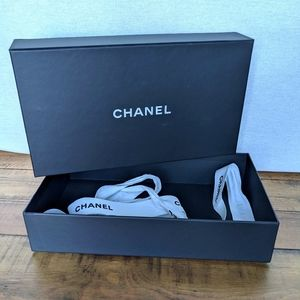 Chanel Gift Box with white ribbon